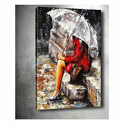 Obraz Tablo Center Waiting in the Rain, 40 × 60 cm